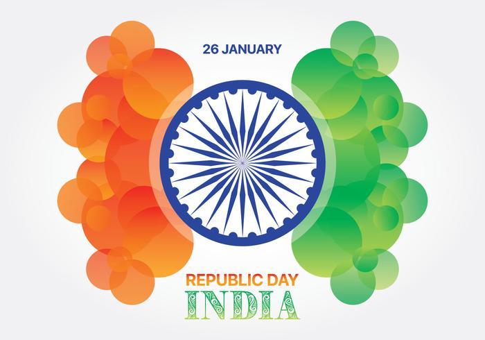 Giorno astratto della repubblica dell'India della bandiera di colore del cerchio vettore