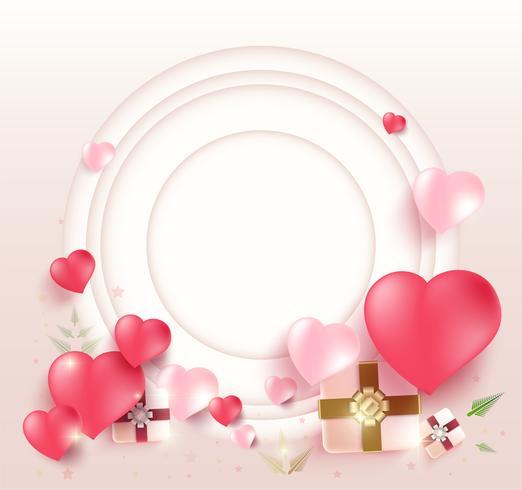 Cornice di San Valentino vettore