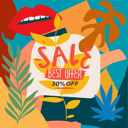 Banner del sito web della migliore offerta di vendita vettore
