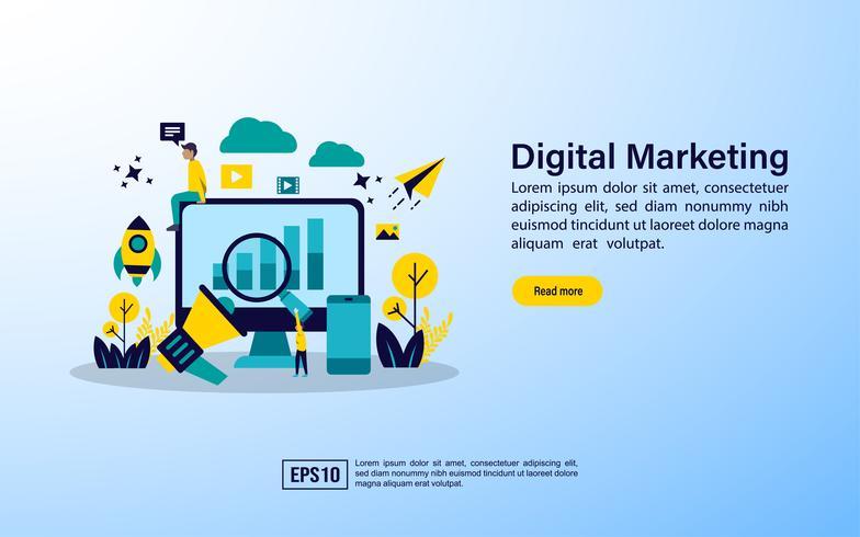 Agenzia di marketing digitale vettore