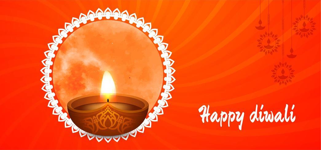 Felice disegno rosso Diwali vettore