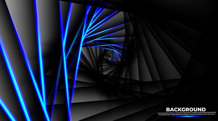 Illusione ottica sotto forma di un triangolo rotondo vettore