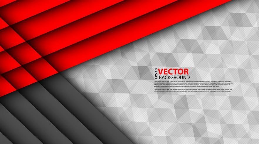 Triangolo grigio rosso astratto vettore
