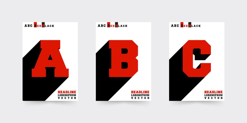 Set di modelli di copertina dell'opuscolo ABC vettore