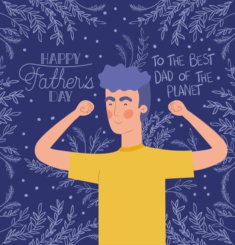 felice giorno del papà card vettore