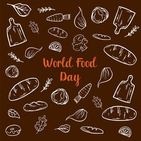 Elementi della Giornata mondiale dell'alimentazione vettore