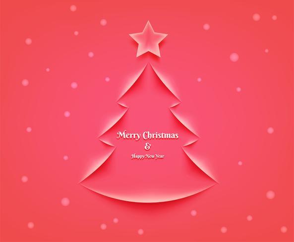 Cartolina di Natale con albero vettore