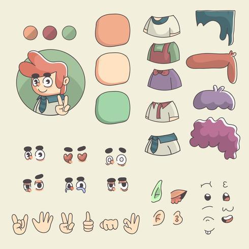 disegno del personaggio dei cartoni animati uomo profilo immagine creatore personalizzato vettore