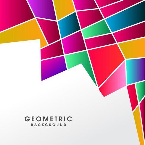 Creativo astratto poligonale colorato vettore