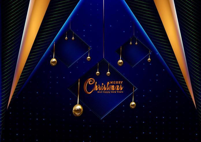 Carta blu scuro di Natale vettore