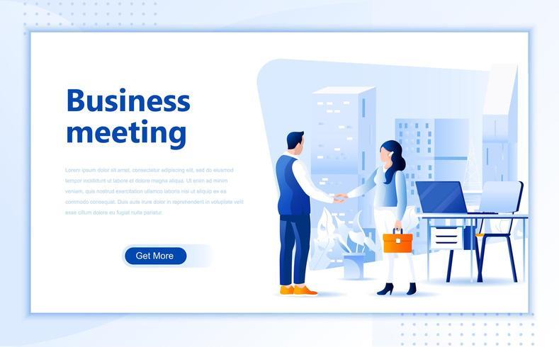 Progettazione di pagine Web per riunioni d'affari vettore