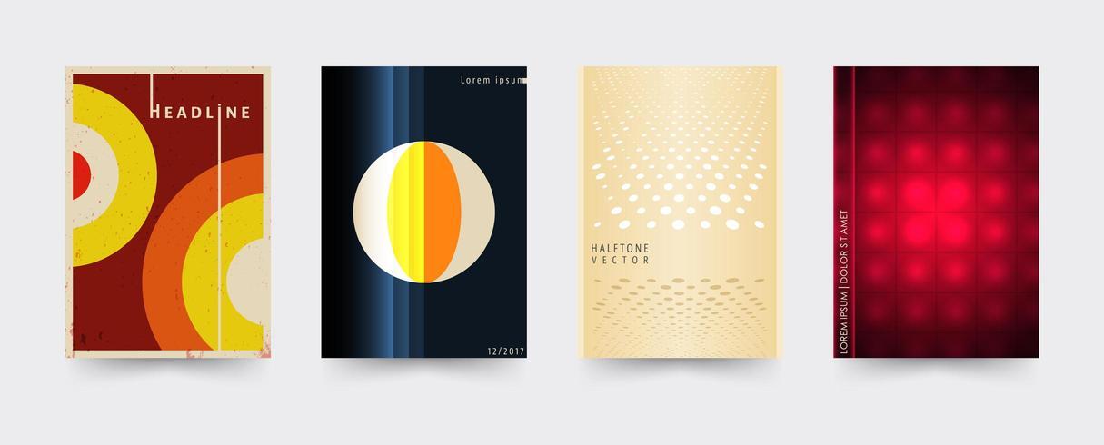Set di modelli di copertina dell'opuscolo vettore