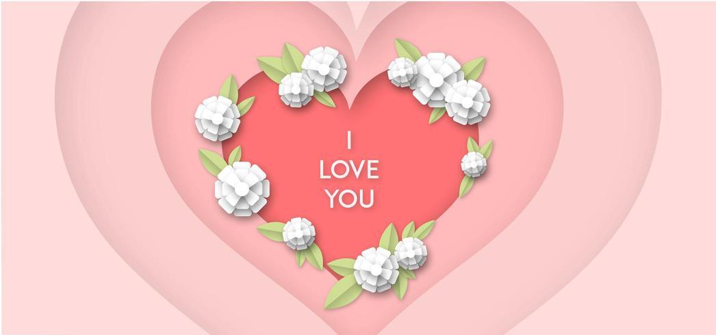 Sfondo cuore amore vettore