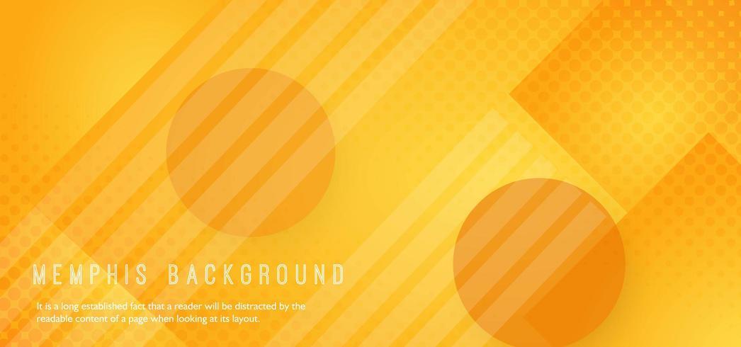 Sfondo astratto di forma arancione vettore