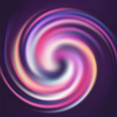 Arricciatura a spirale di rotazione colorata a strisce astratta vettore