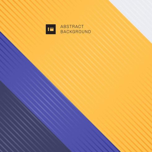 Righe diagonali a strisce su sfondo giallo e viola vettore