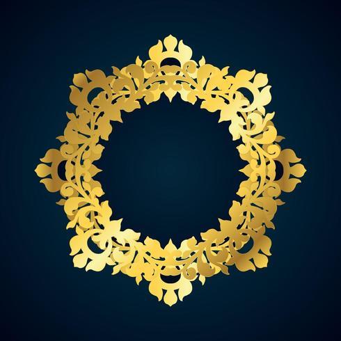 Bordo decorativo in oro vettore