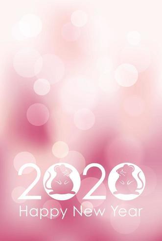 2020 - l'anno del topo - modello di carta di Capodanno. vettore