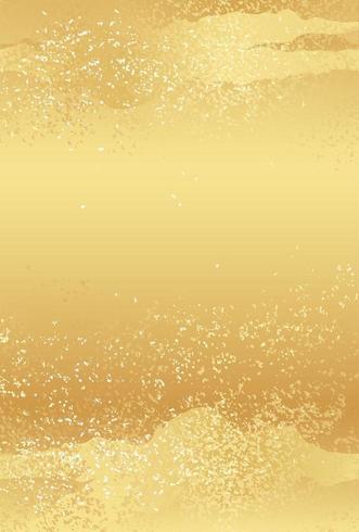 Modello giapponese dell'oro della carta del nuovo anno con il modello astratto vettore