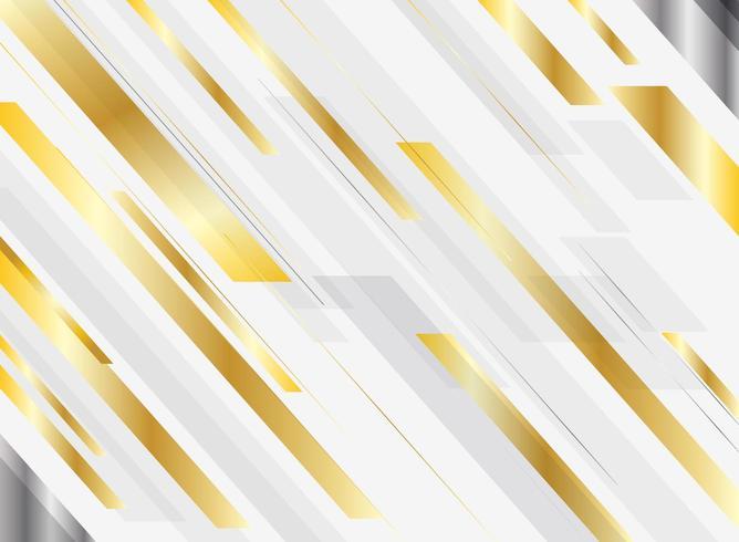Movimento brillante di colore luminoso di pendenza geometrica astratta dell'oro vettore