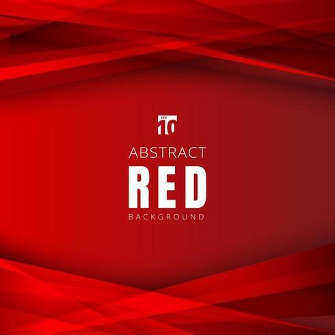 Triangoli di forme rosse modello sovrapposte con ombra vettore