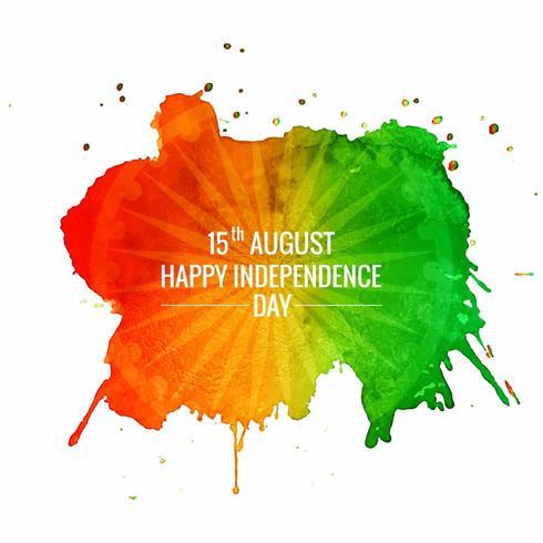 Buon giorno dell'indipendenza dell'India vettore
