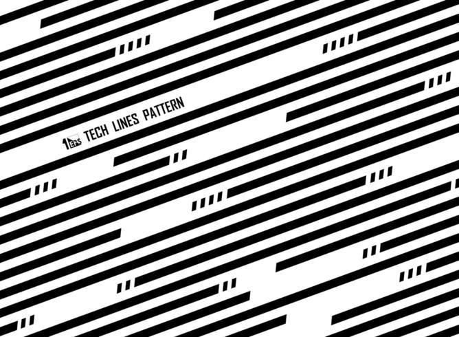 Modello di linea a strisce diagonale bianco e nero astratto vettore