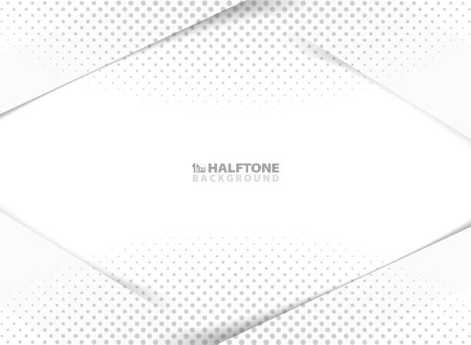 Modello di semitono grigio di carta 3d di nuova tecnologia astratta vettore