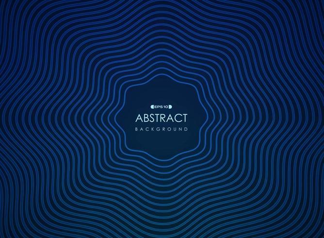 Linee radianti blu ondulate astratte modello futuristico vettore