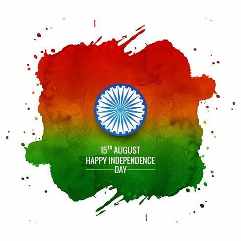 Bandiera indiana dell'acquerello per la festa della Repubblica indiana vettore
