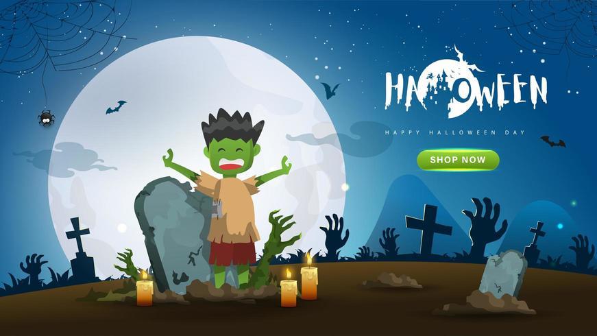 Halloween Zombie Coming alive vettore
