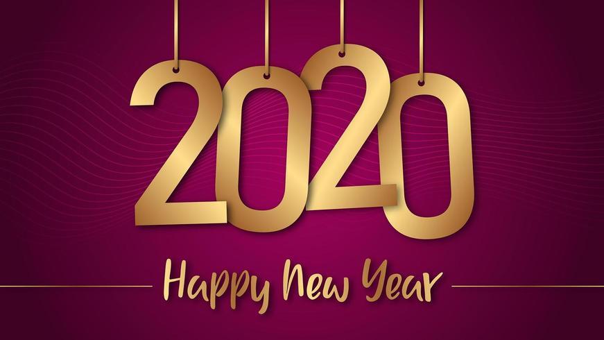 2020 felice anno nuovo sfondo vettore