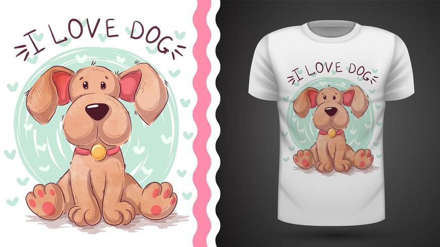 Cucciolo di cane - idea per t-shirt stampata vettore