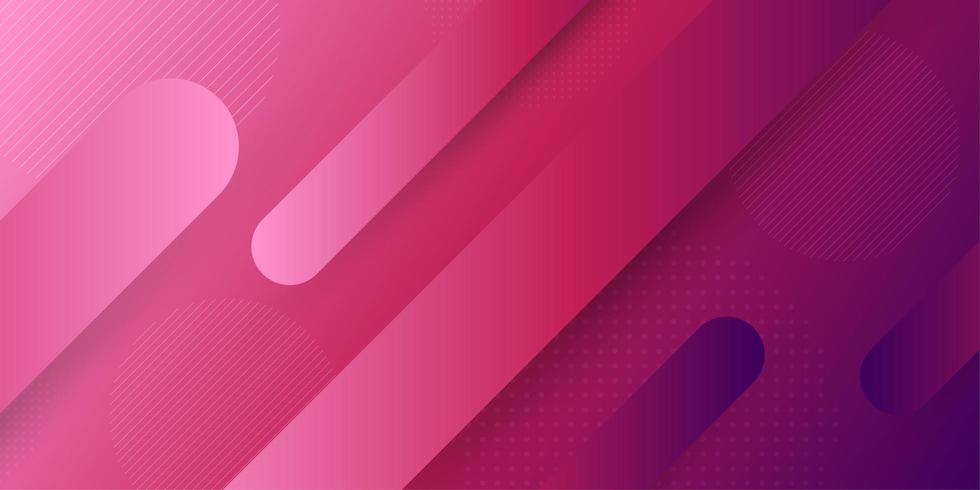 Retro fondo geometrico astratto rosa e porpora di forma della capsula vettore