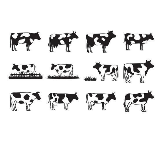 Collezione di mucche vettore