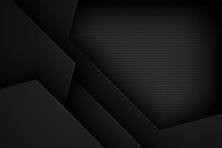 Sfondo nero forma geometrica taglio carta vettore
