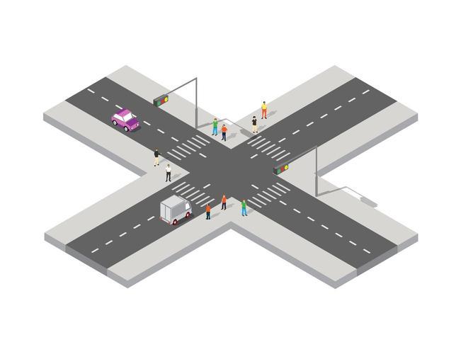 Vista isometrica prospettica vettore