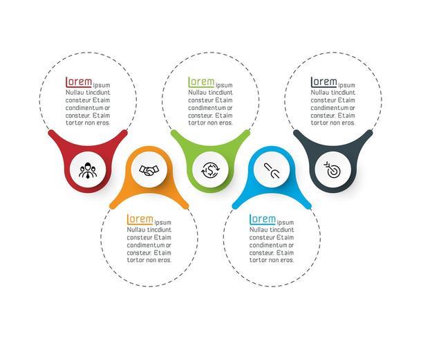 Grafica vettoriale di anello infografica bar.