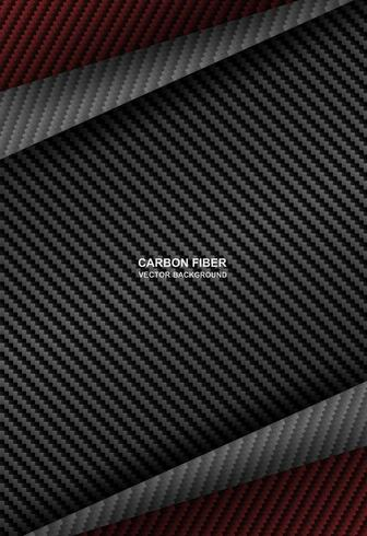 fondo di sovrapposizione nero, rosso della fibra di carbonio vettore