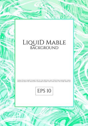 Sfondo di marmo liquido verde vettore