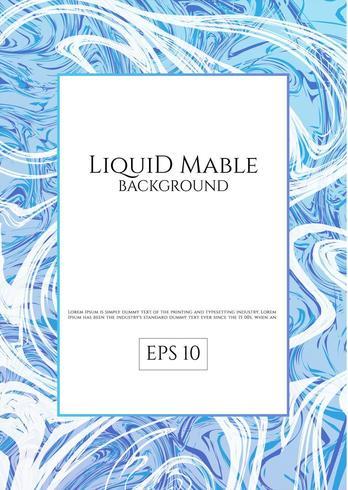 Sfondo di marmo liquido blu vettore