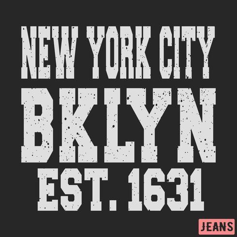 Timbro vintage di Brooklyn New York vettore