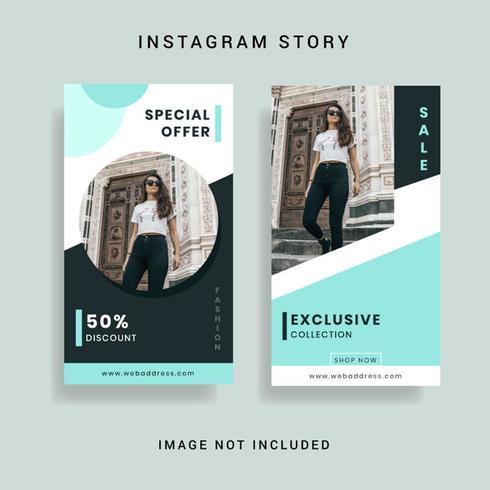 Modello di storia Instagram di social media vettore