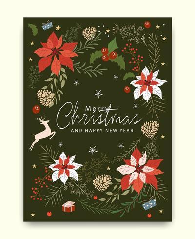 Modello di auguri di buon Natale vettore