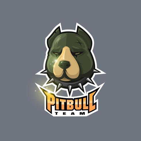 Logo della squadra di testa di Pitbull vettore