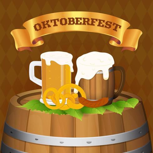 Concetto del fondo di festival della birra di Oktoberfest vettore