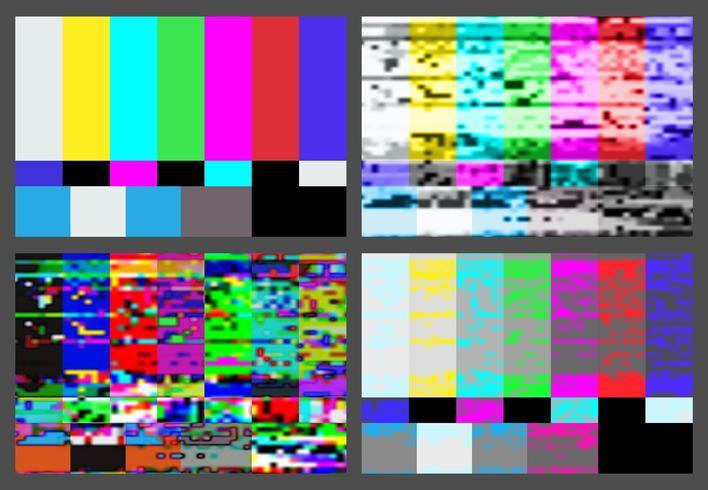 Nessun segnale impostato per lo sfondo del test pattern TV. vettore