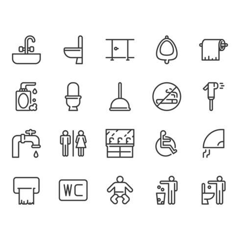 Set di icone bagno vettore