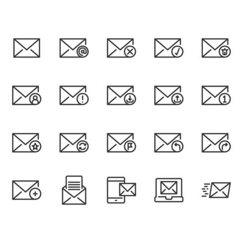 Set di icone e-mail vettore