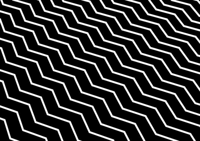 Onda chevron bianca diagonale astratta o motivo ondulato su fondo nero. vettore